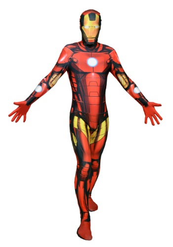 Click Here to buy Mens Deluxe Iron Man Morphsuit Costume from HalloweenCostumes, CDN Funds