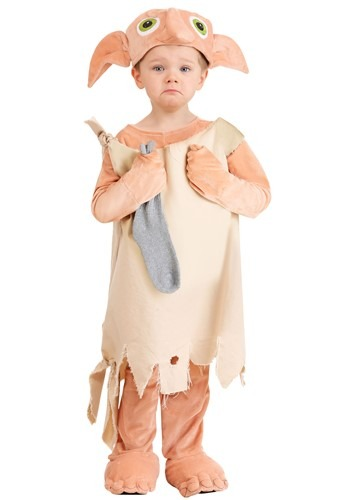 Click Here to buy Harry Potter Deluxe Dobby Costume for Toddlers from HalloweenCostumes, CDN Funds