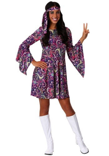 Click Here to buy Womens Woodstock Hippie Costume from HalloweenCostumes, CDN Funds