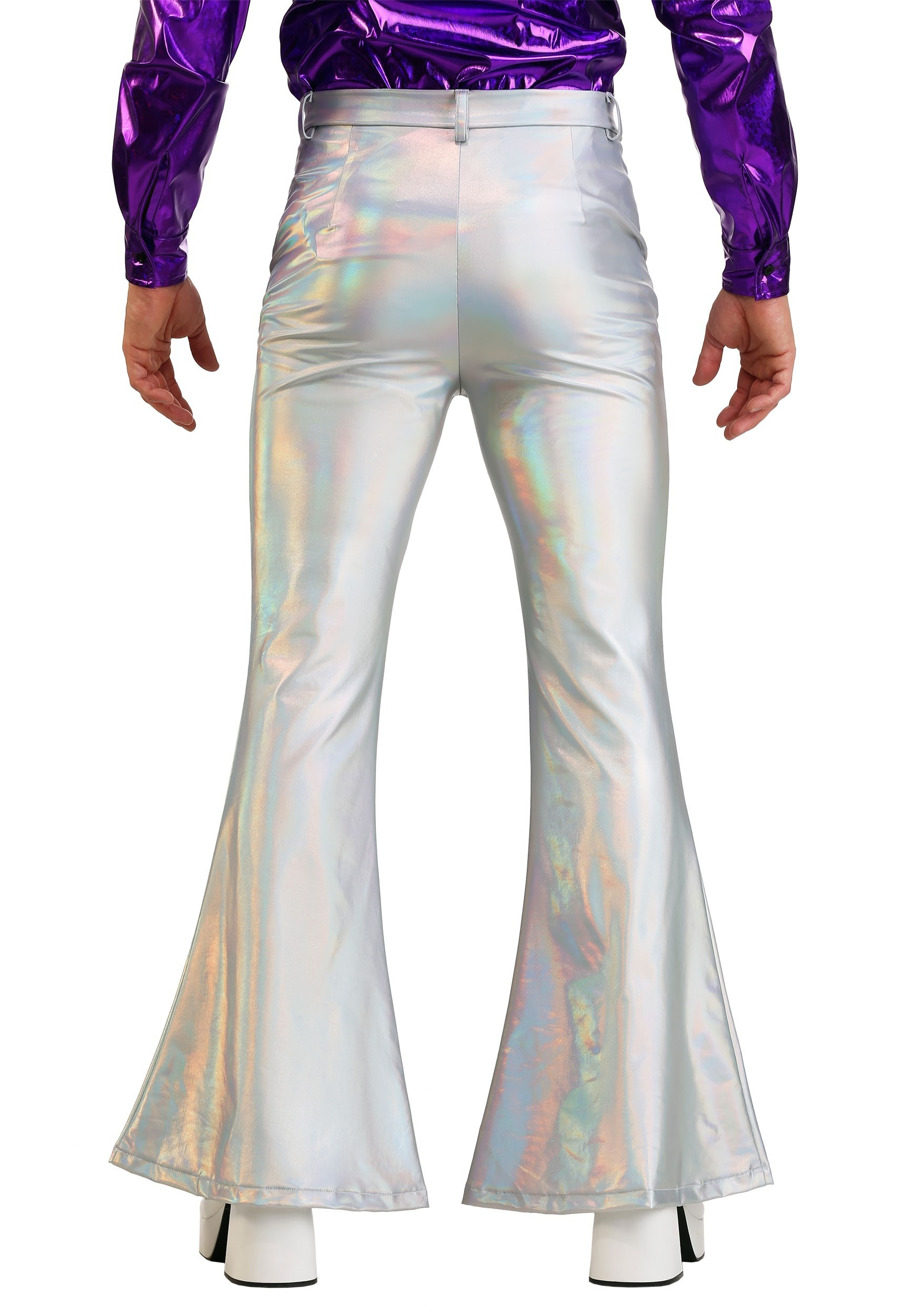 Disco Pants Adult Costume White 44
