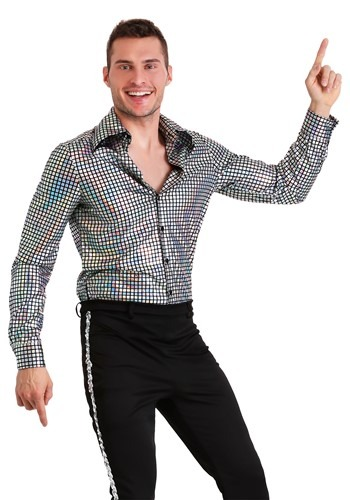 Click Here to buy Disco Ball Mens Shirt from HalloweenCostumes, CDN Funds