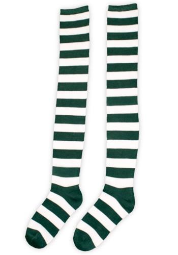 Green and White Munchkin Socks