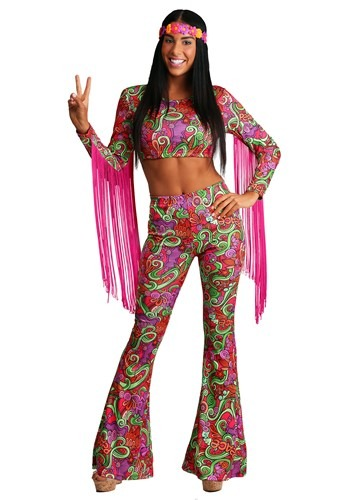 Click Here to buy Womens World Peace Hippie Costume from HalloweenCostumes, CDN Funds