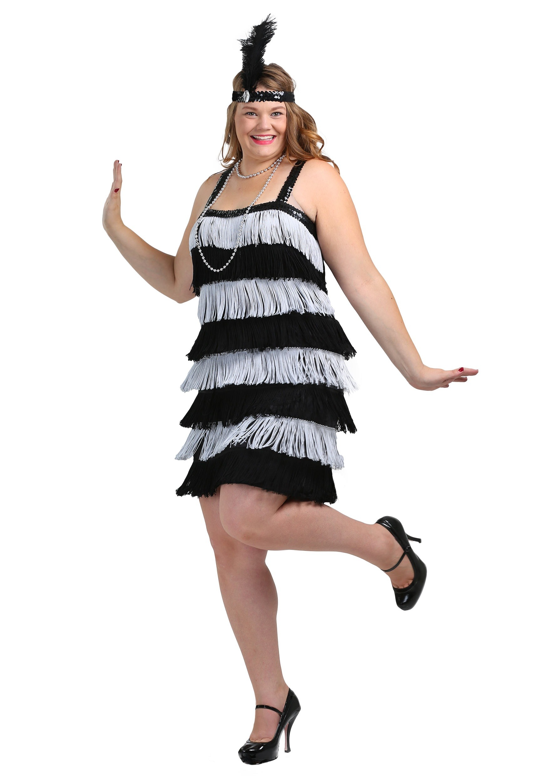 Plus Size Flapper Costumes - Adult 1920\'s Flapper Dress Costume