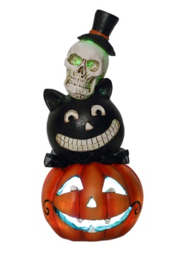 LED Halloween Resin Stack Heads Décor