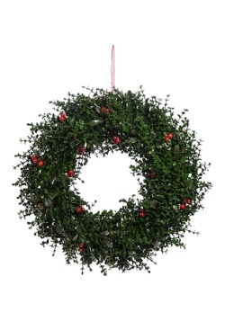 Traditional Holly Wreath Decoration