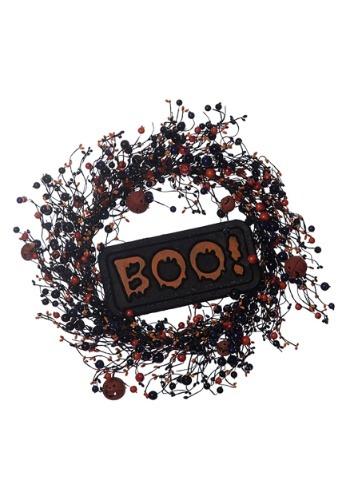 "Image 22"" Halloween BOO Wreath"