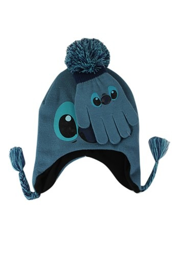 Stitch Kids Pom Knit Peruvian Hat & Gloves Set update1