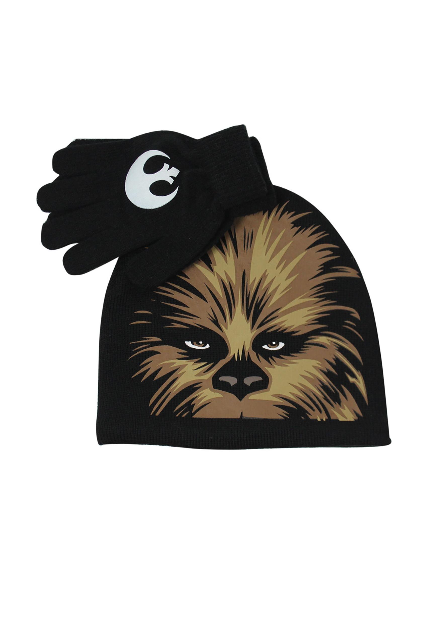 Chewbacca Kids Big Face Beanie   Glove Set faa1bbc57d2