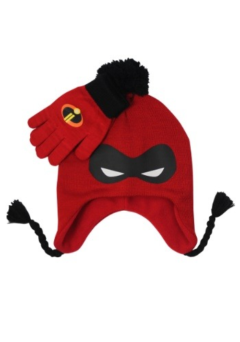 Incredibles Mask Knit Peruvian Hat & Glove Set for Kids