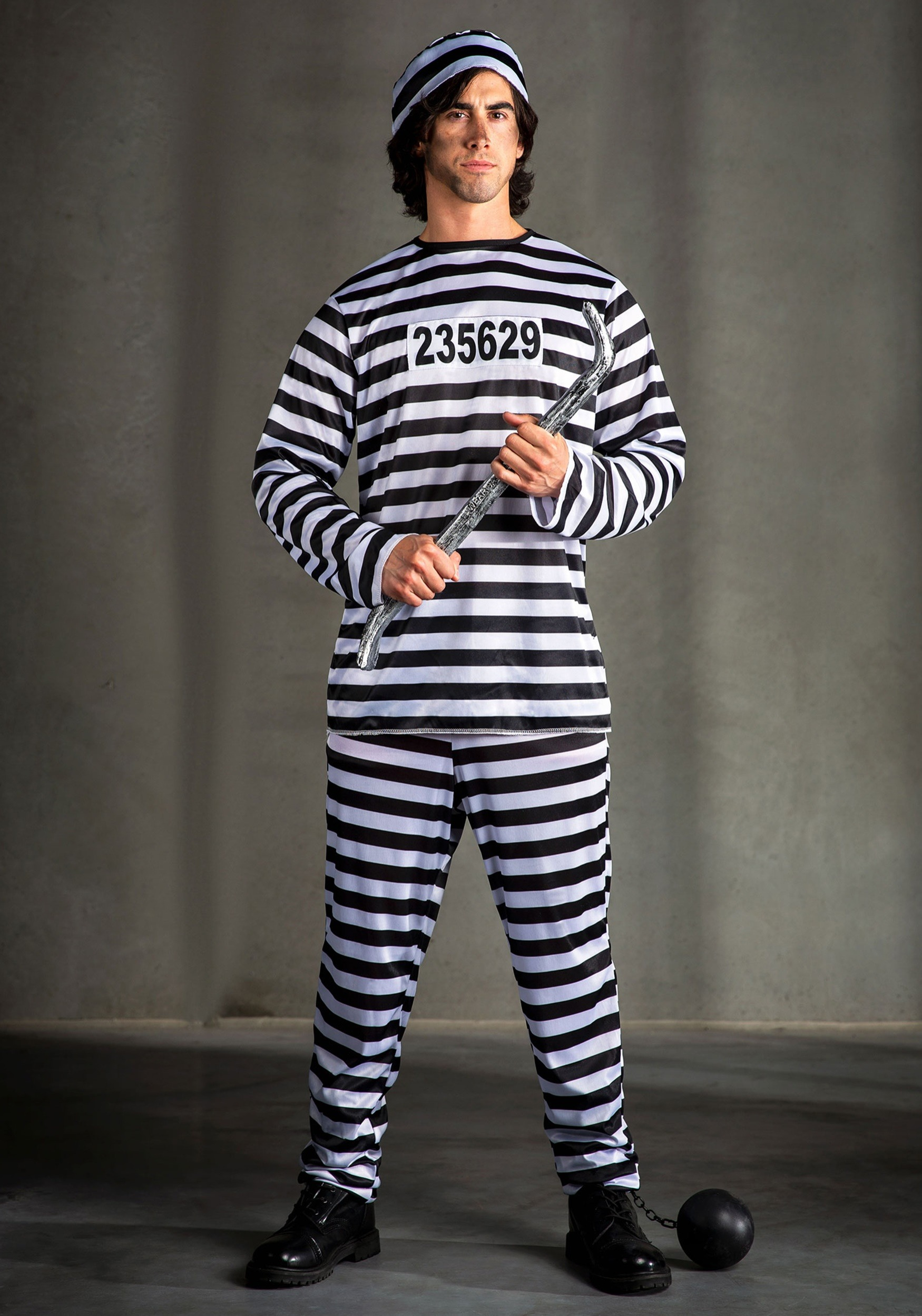 Plus Size Mens Prisoner Costume  sc 1 st  Halloween Costumes & Plus Size Menu0027s Prisoner Costume 2X 3X 4X 5X 6X 7X 8X