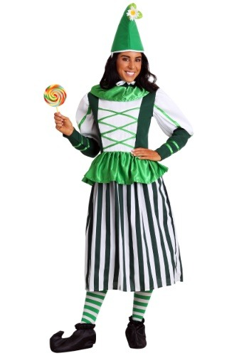 Click Here to buy Plus Size Deluxe Munchkin Woman Costume from HalloweenCostumes, USA Funds & Shipping