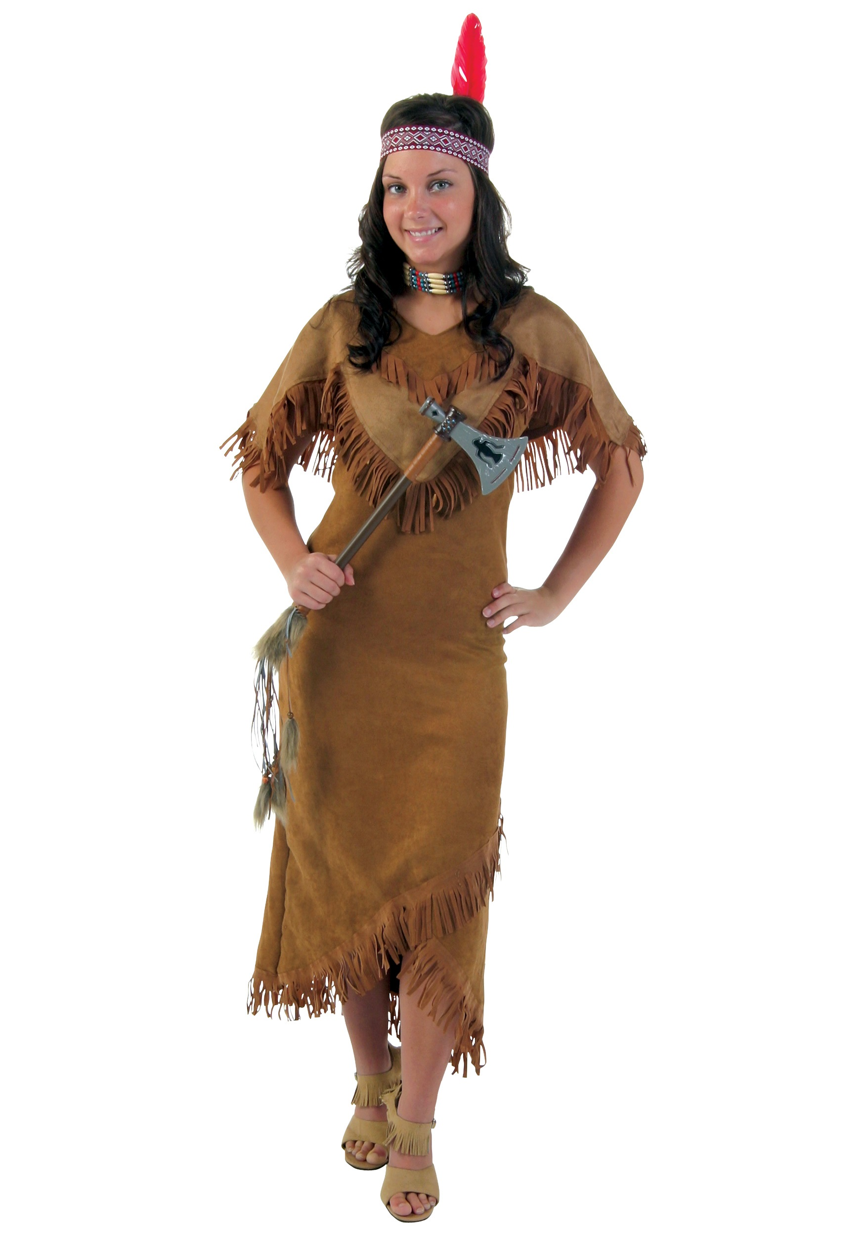 Plus Size Deluxe Women's Native American Costume