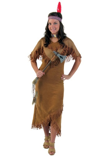Plus Size Deluxe Womens Native American Costume