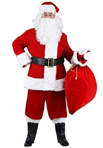 Click Here to buy Plus Size Premiere Santa Suit 2X 3X 4X 5X 6X 7X from HalloweenCostumes, CDN Funds