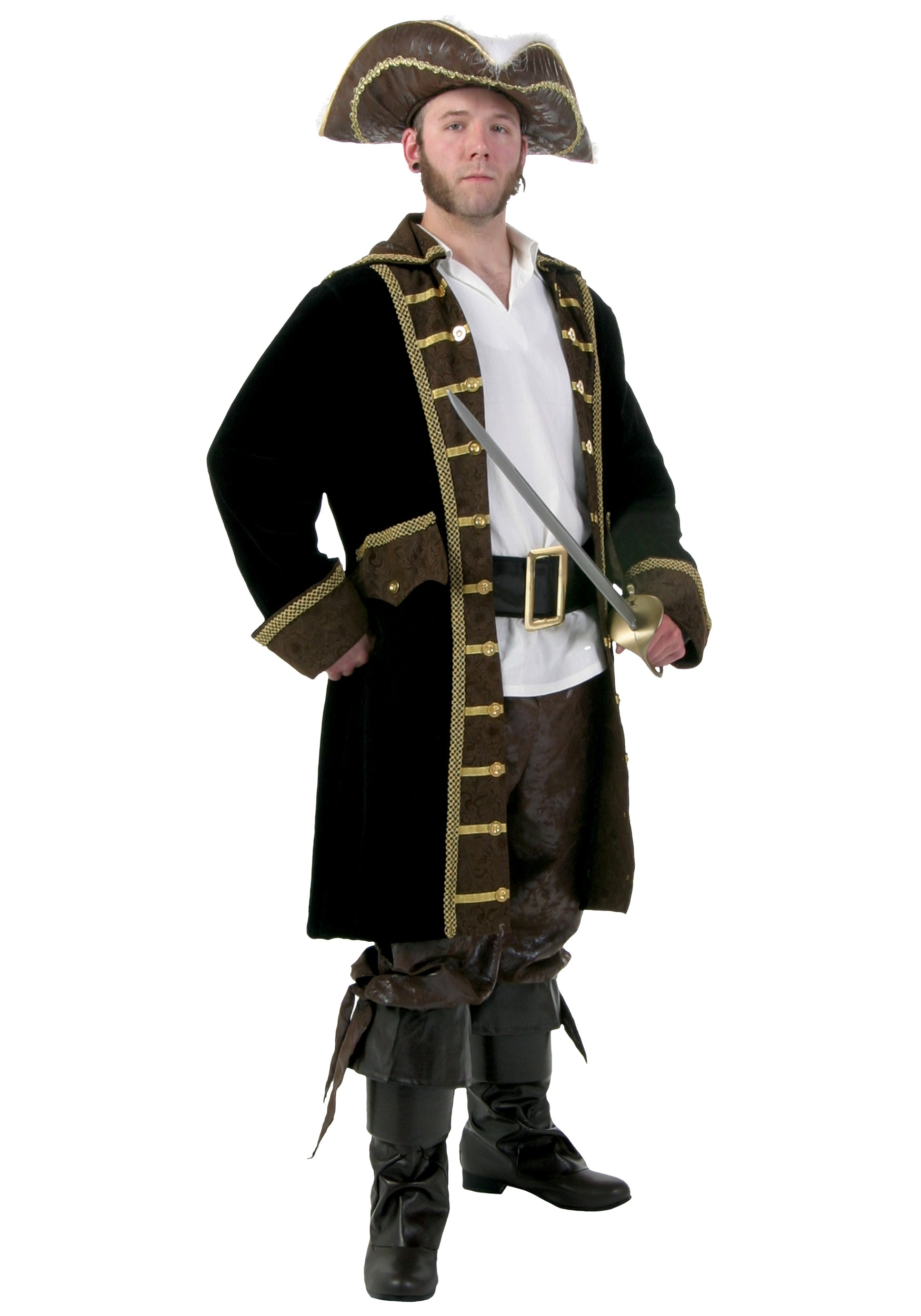 Menu0027s Plus Size Realistic Pirate Costume  sc 1 st  Halloween Costumes & Menu0027s Plus Size Realistic Pirate Costume 2X 3X 4X 5X 6X