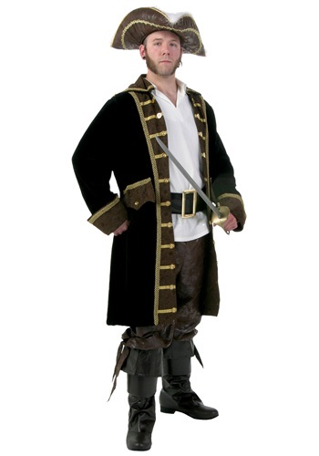 Mens Plus Size Realistic Pirate Costume