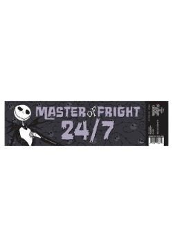 Nightmare Before Christmas Jack Fright Master Bumper Sticker