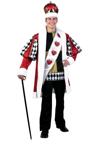 Plus Size Deluxe King of Hearts Costume By: Fun Costumes for the 2015 Costume season.