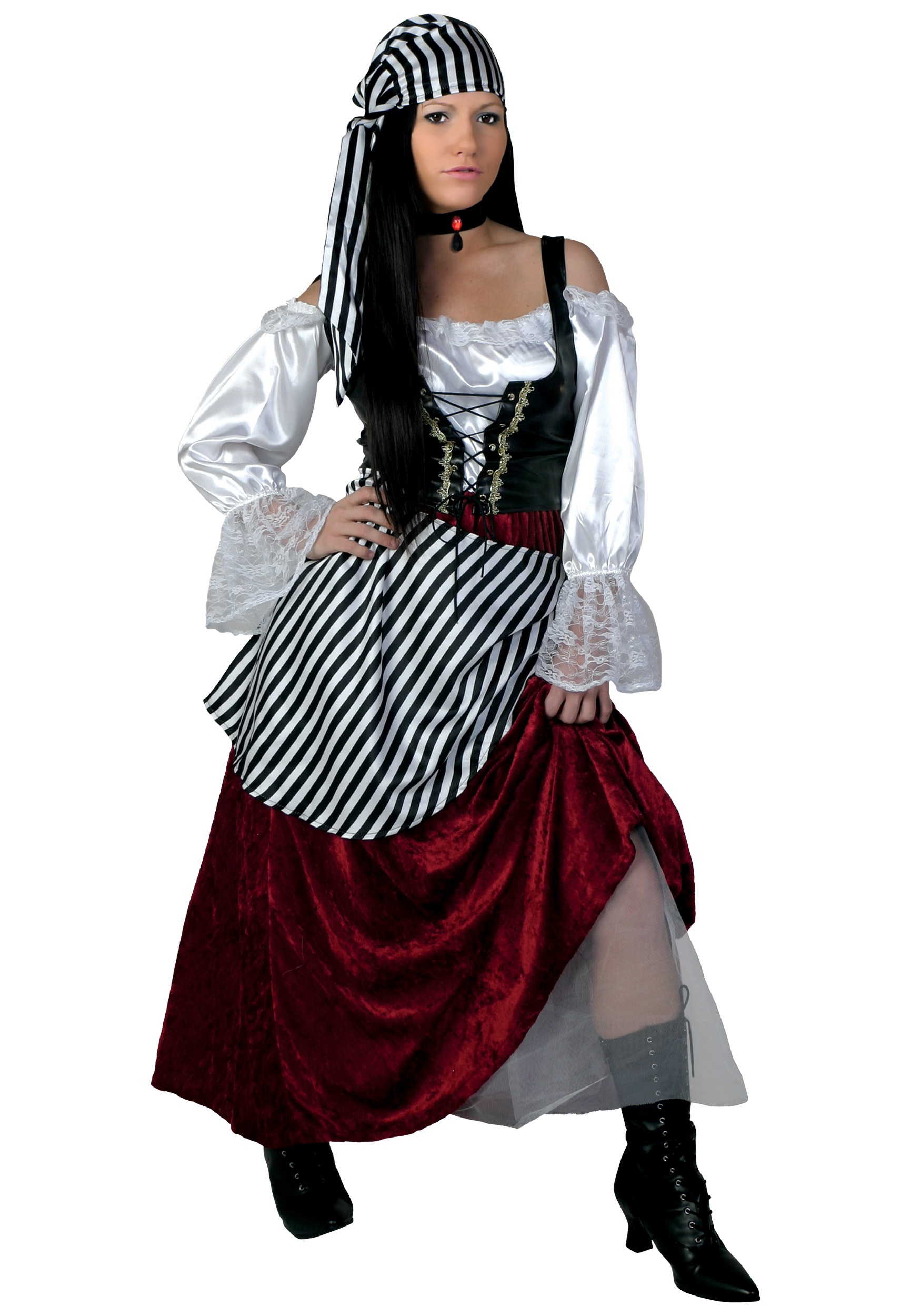 Pirate costumes for women female pirate halloween costume plus size deluxe pirate wench costume solutioingenieria Choice Image