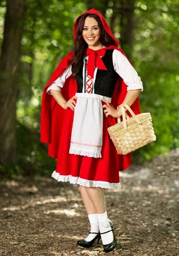 Plus Size Little Red Riding Hood Costume New Main