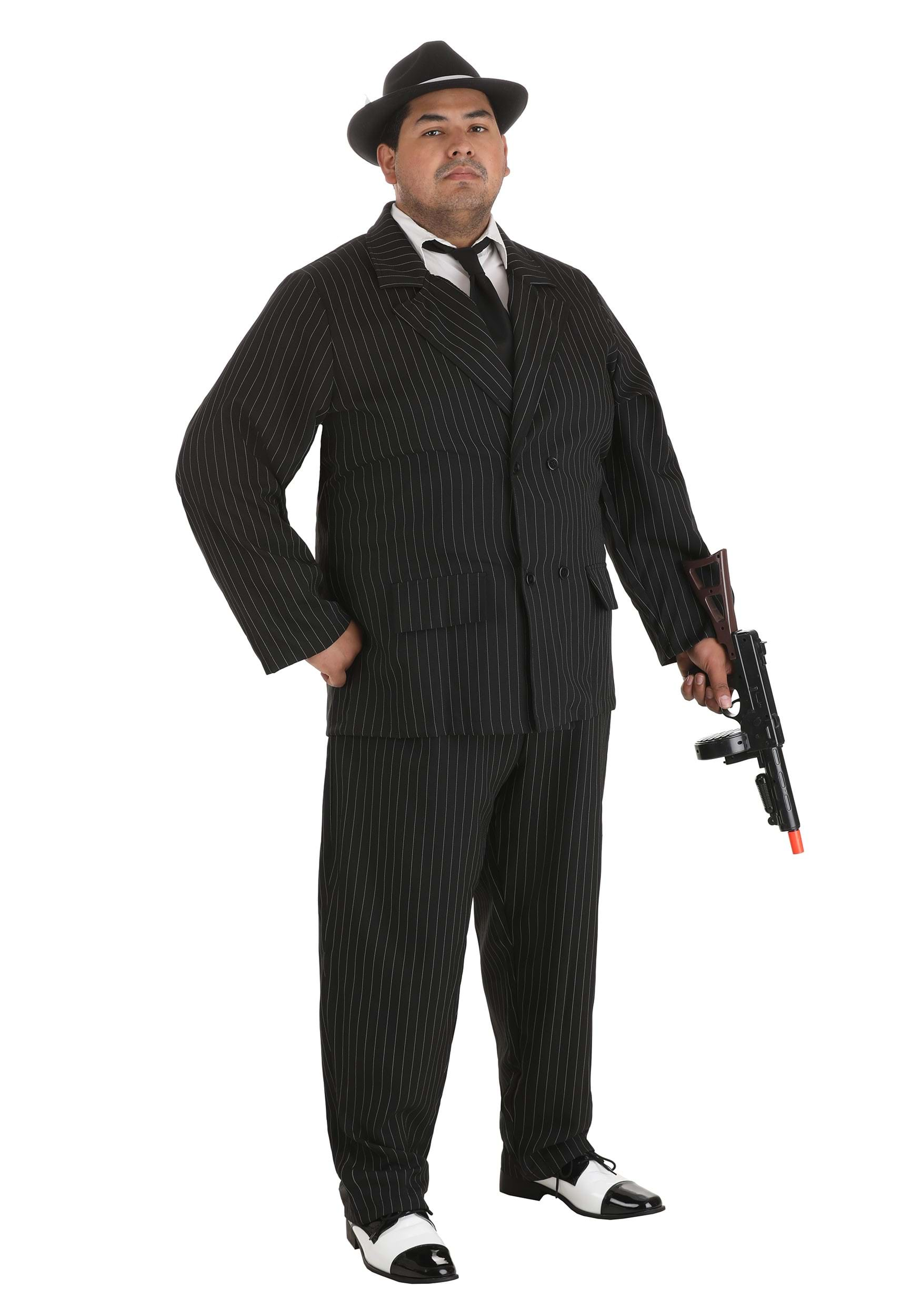 gangster plus size pinstripe costume