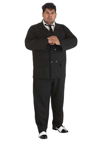 Click Here to buy Gangster Plus Size Pinstripe Costume from HalloweenCostumes, USA Funds & Shipping