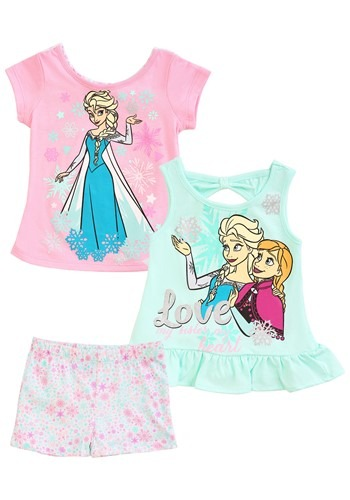 Click Here to buy Frozen 3 Piece Love Short & Tops Set from HalloweenCostumes, CDN Funds