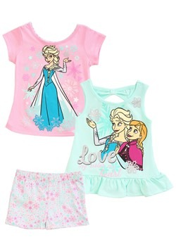 Frozen 3 Piece Love Short & Tops Set