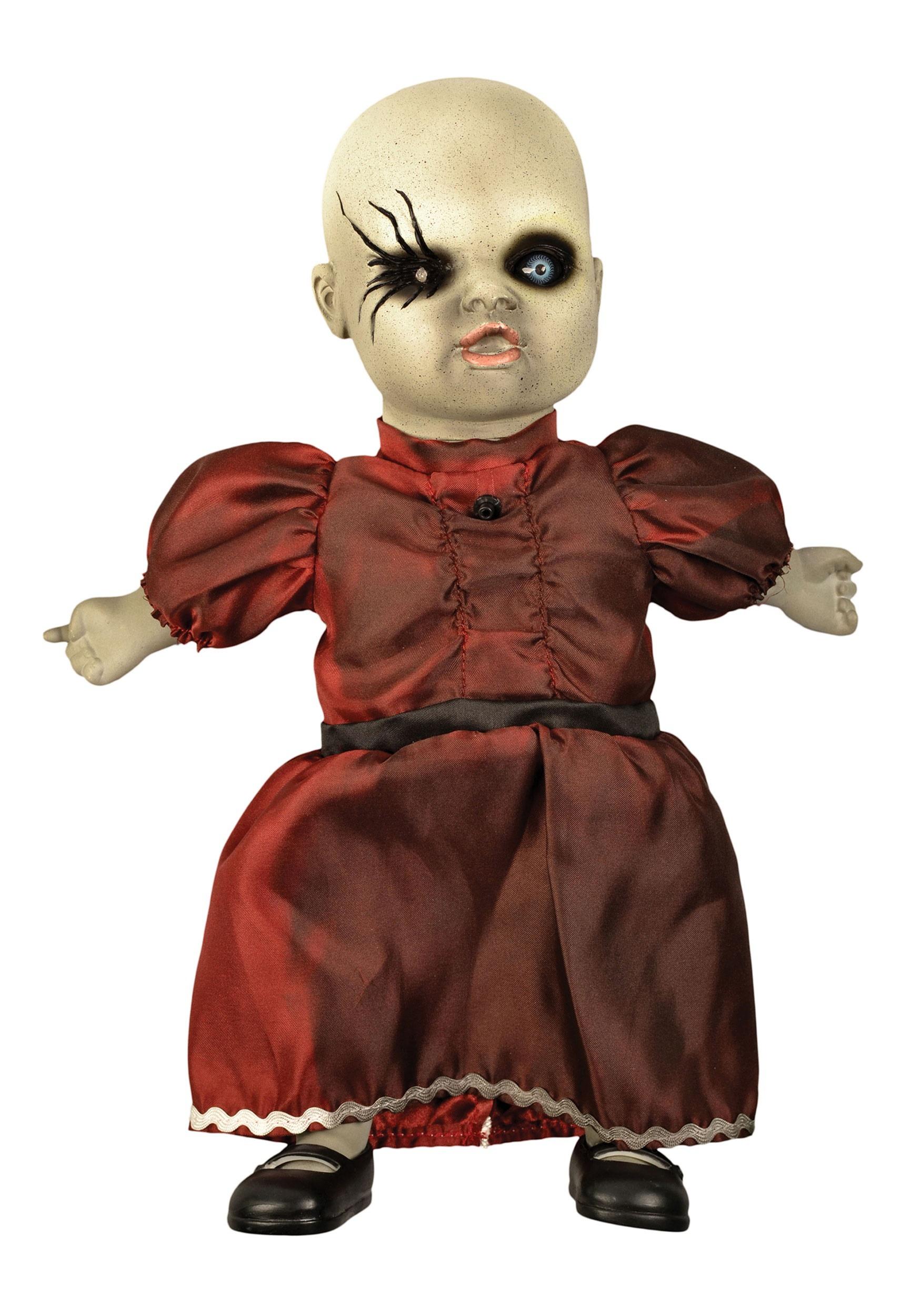 Amazing Haunted Porcelain Doll W Red Dress Ibusinesslaw Wood Chair Design Ideas Ibusinesslaworg
