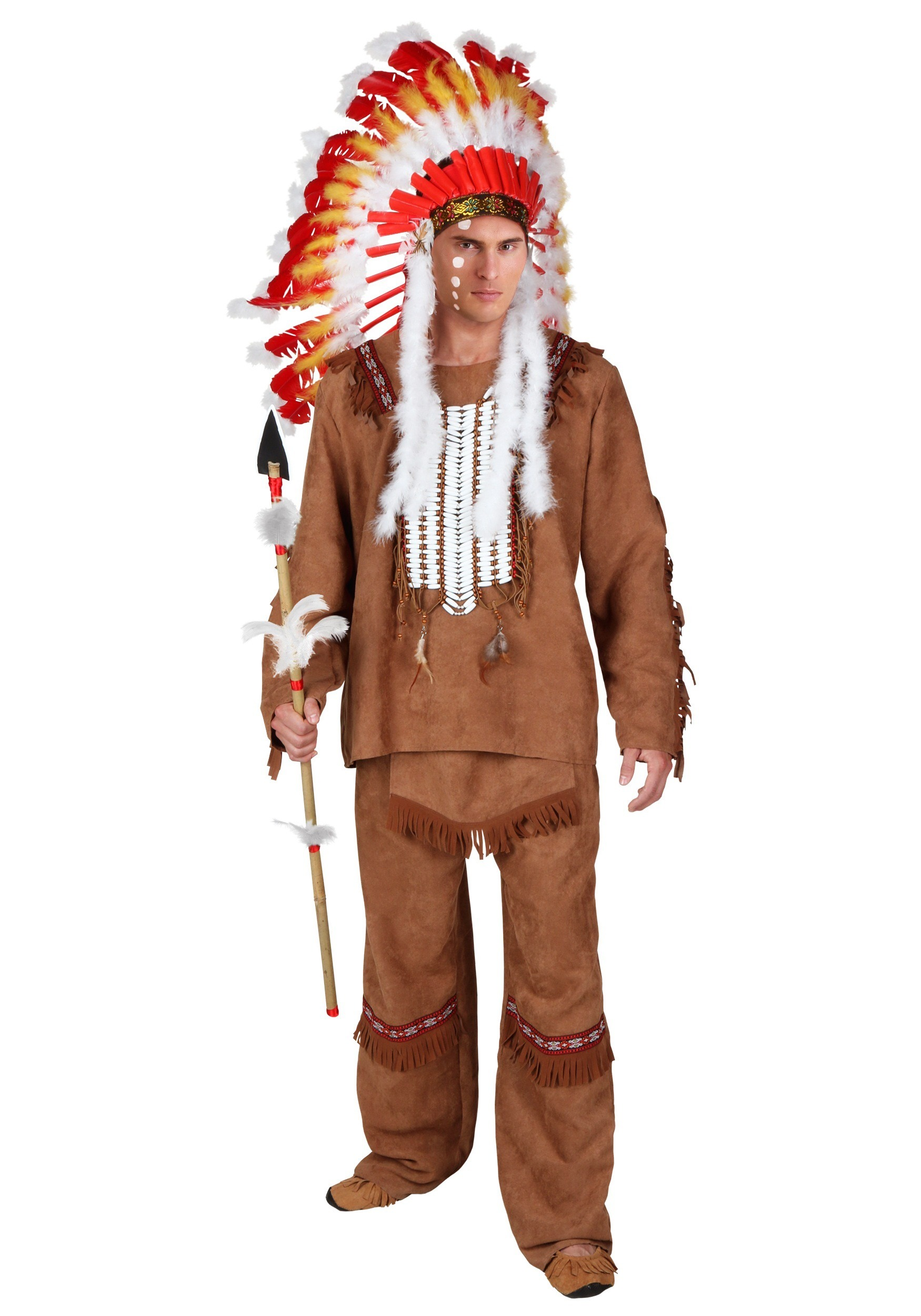 Plus Size Deluxe Mens Indian Costume main