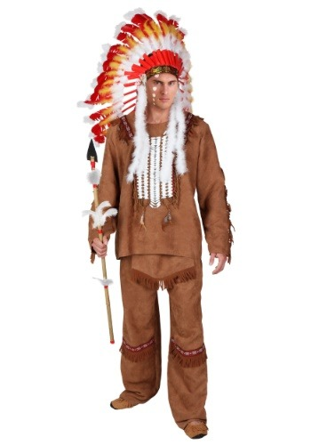 Plus Size Deluxe Mens Indian Costume