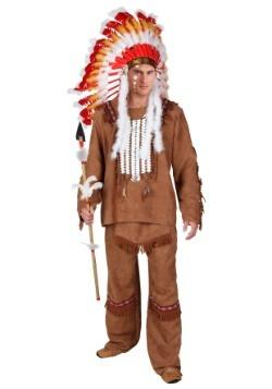 Plus Size Deluxe Mens Native American Costume Update Main