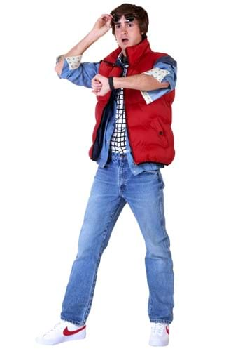 Click Here to buy Back to the Future Marty McFly Plus Size Mens Costume 3X from HalloweenCostumes, CDN Funds
