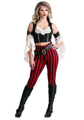 Womens Salty Seas Deckhand Pirate Costume