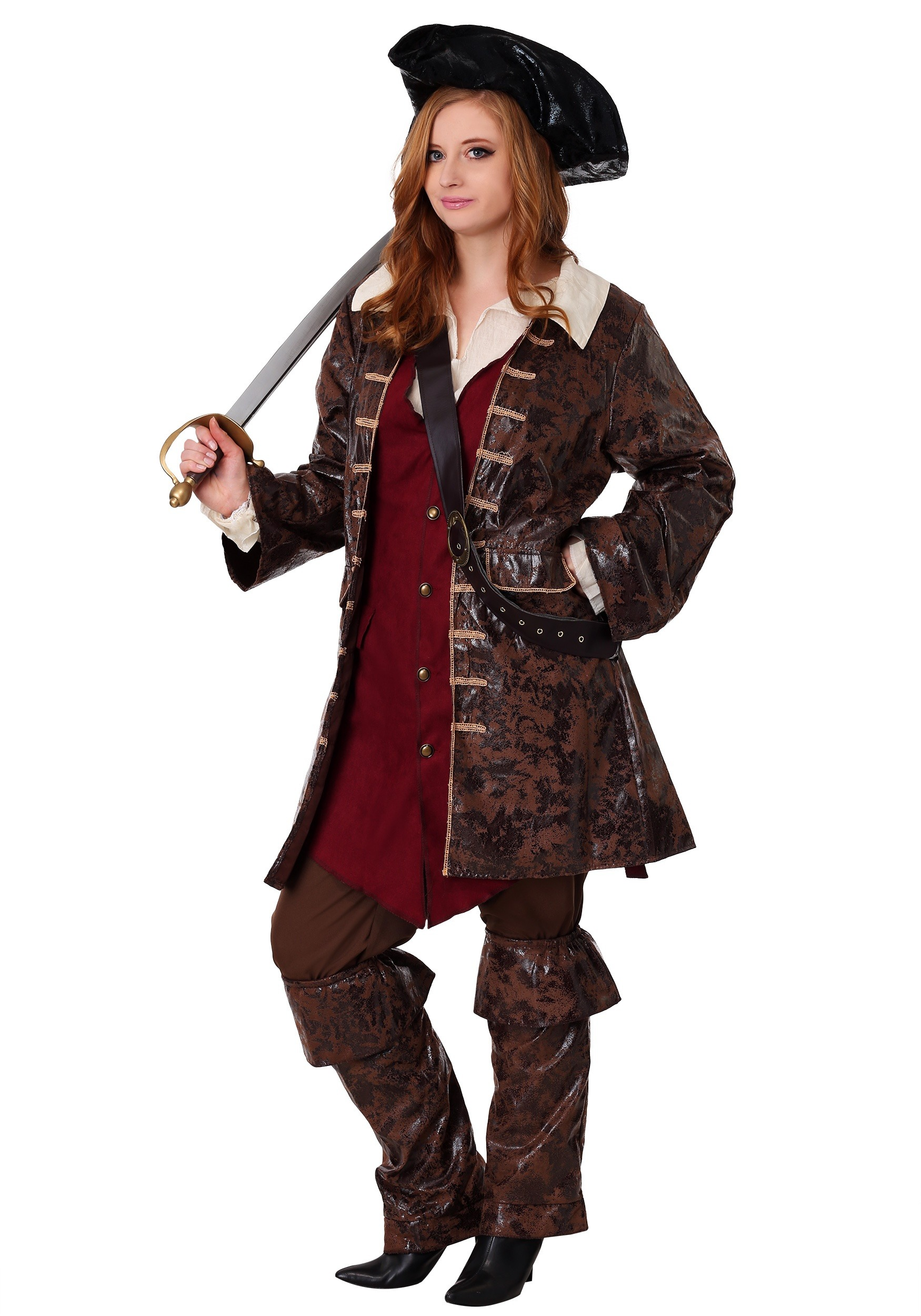 Plus Size Women's Caribbean Pirate Costume Homemade Rogue Costume