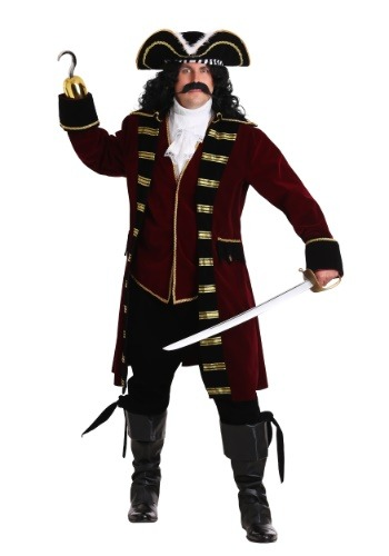 Plus Size Deluxe Captain Hook Costume By: Fun Costumes for the 2015 Costume season.