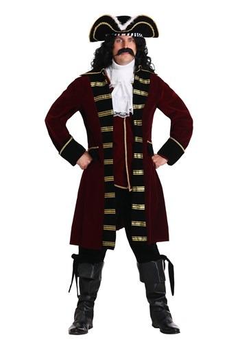 Plus Size Deluxe Captain Hook Costume for Men