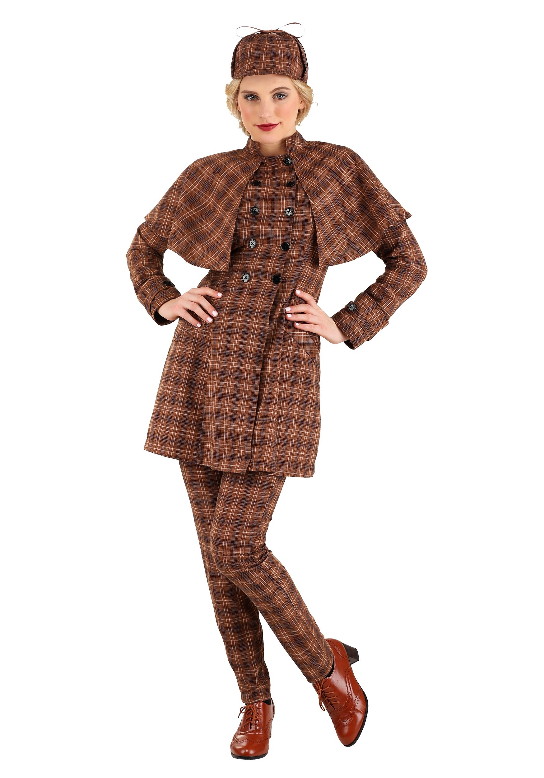 Sherlock Holmes Women's Costume-book character costume ideas for adults