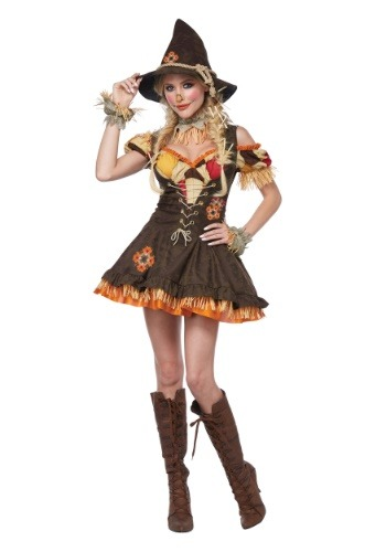Click Here to buy Sassy Scarecrow Womens Costume from HalloweenCostumes, CDN Funds
