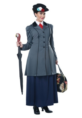 Click Here to buy Womens Nanny Plus Size Costume from HalloweenCostumes, CDN Funds