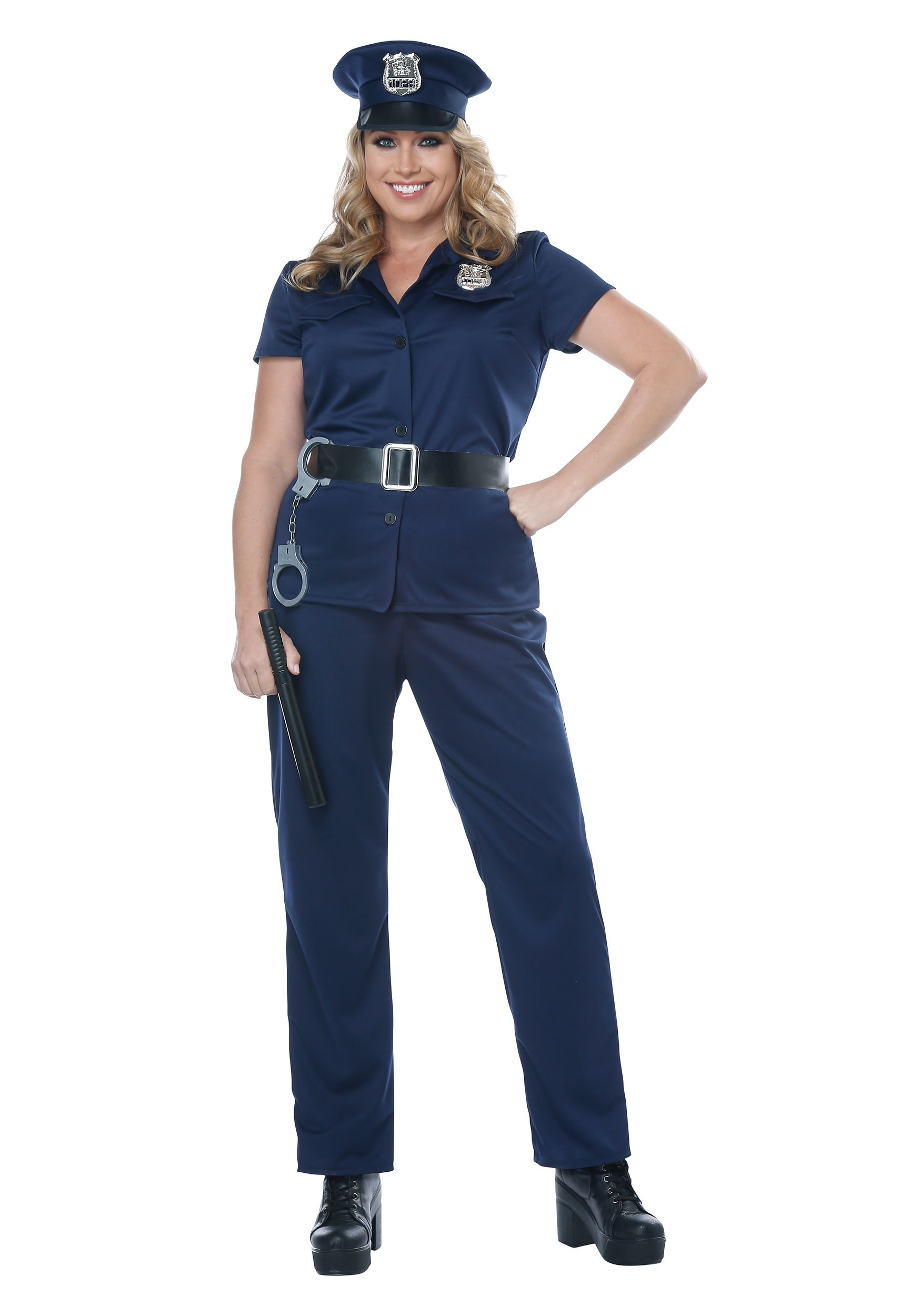 plus size police woman costume