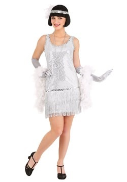 Silver Plus Size Flapper Costume Dress update1