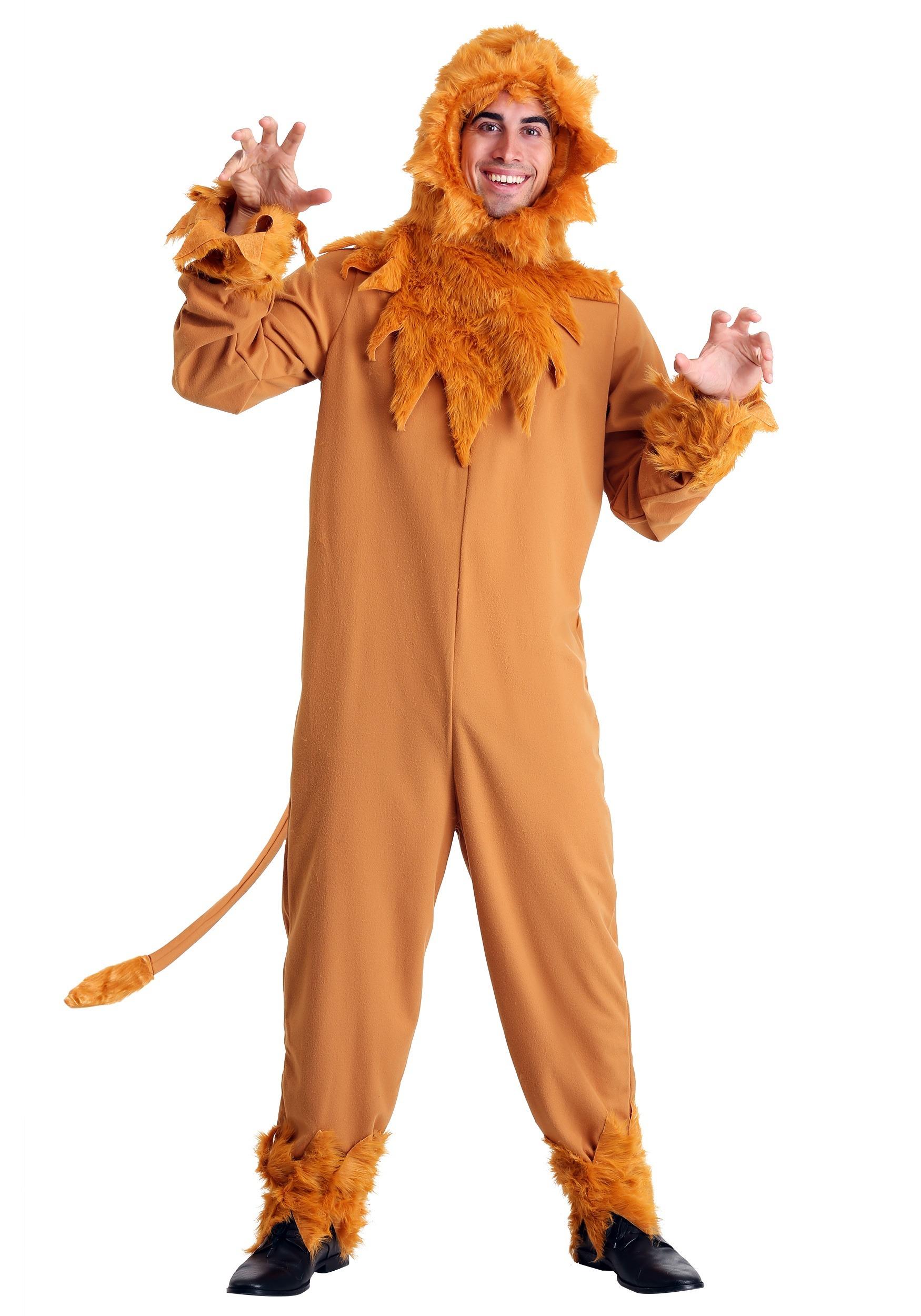 d0da06827 Plus Size Cowardly Lion Mens Costume update