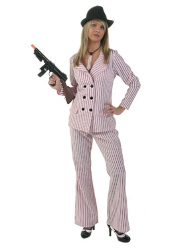 Pink Gangster Moll Costume