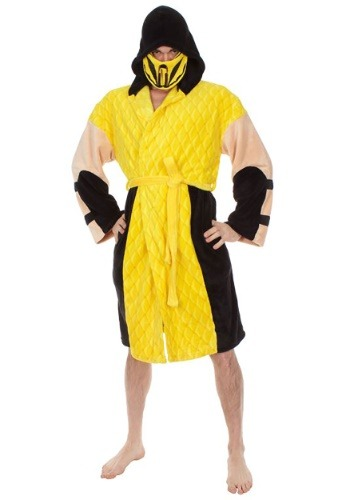 Click Here to buy Scorpion Hooded Robe Mortal Kombat from HalloweenCostumes, CDN Funds