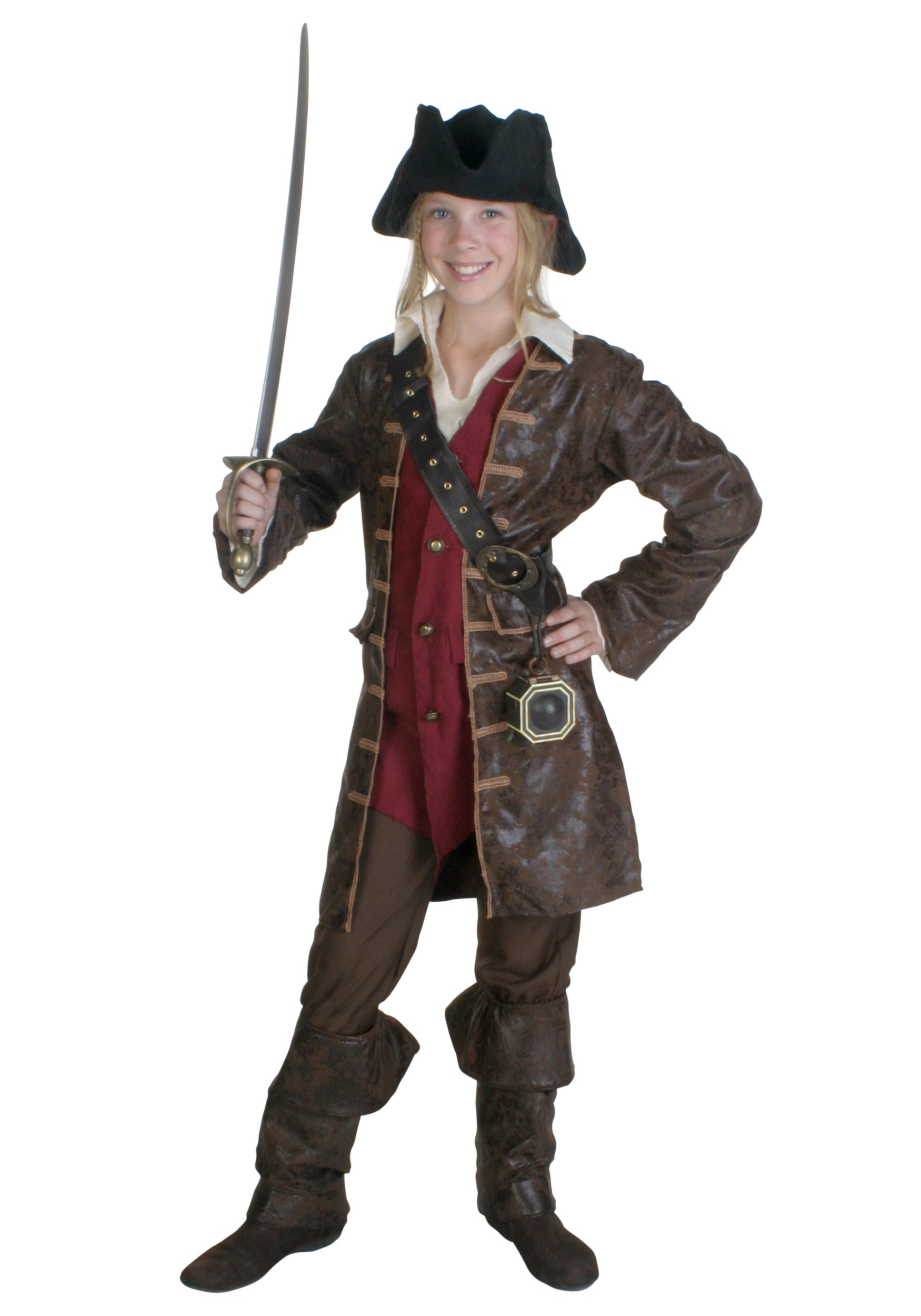 Angelica Deluxe Child Costume Pirates of the Caribbean Girls Pirate Halloween