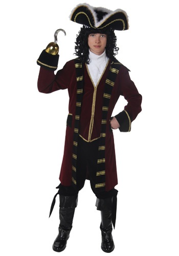 Click Here to buy Teen Captain Hook Costume from HalloweenCostumes, USA Funds & Shipping