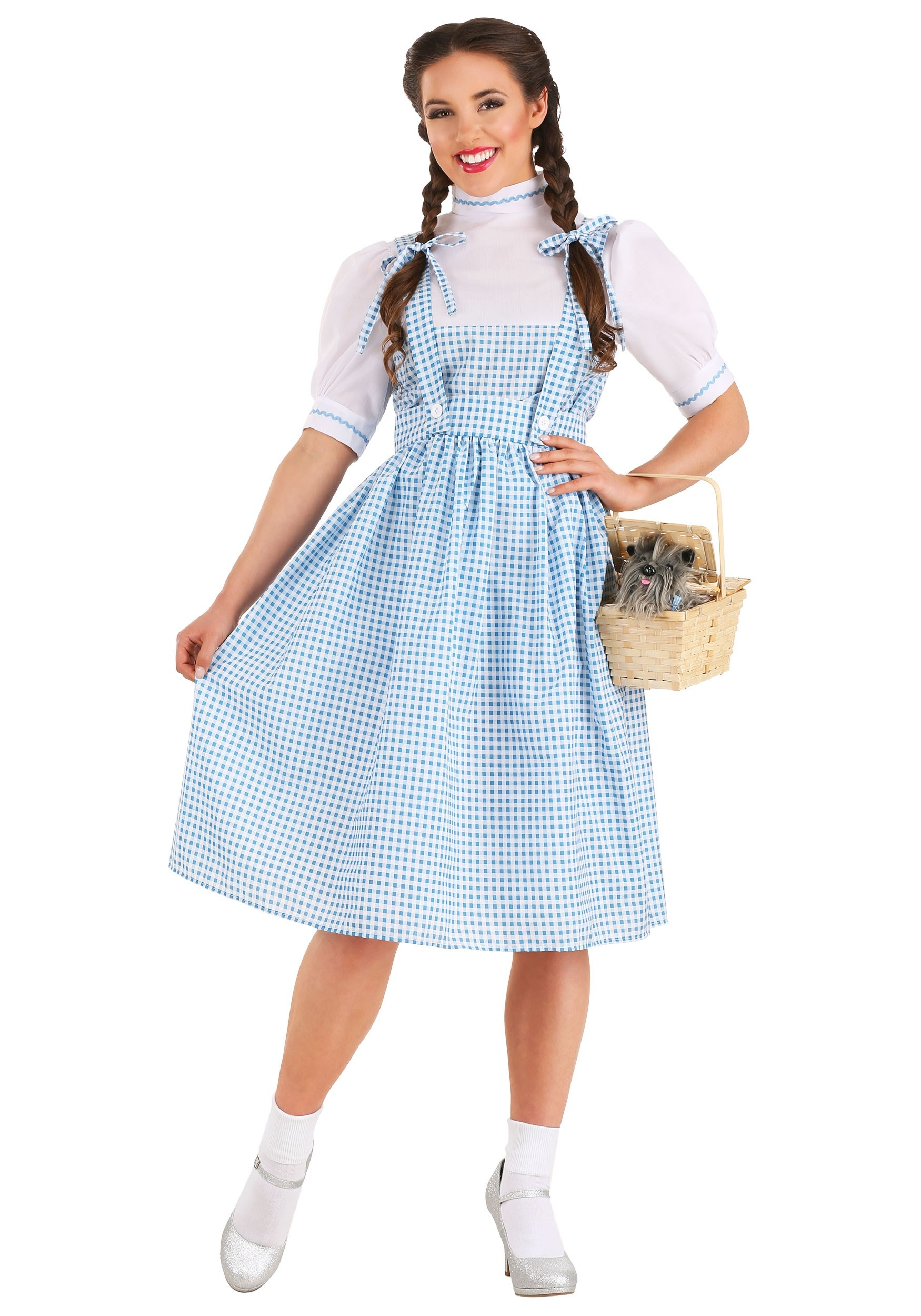 Ladies Dorothy Costume Adults Oz Fairytale Fancy Dress Womens Kansas Book 8-22