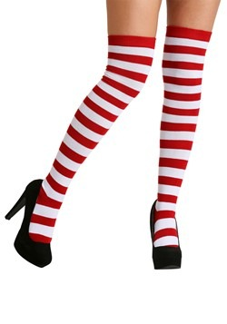 Adult Red and White Socks for Adults